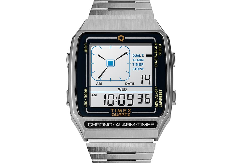 Q Timex Reissue Digital LCA im Stahldesign