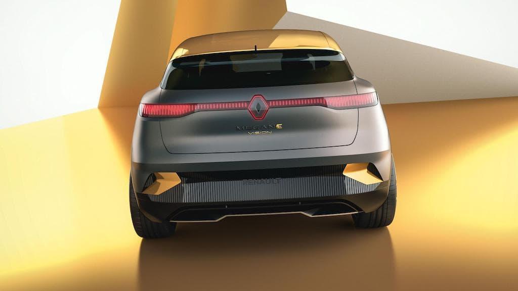 Heckansicht: Renault MéganeeVision