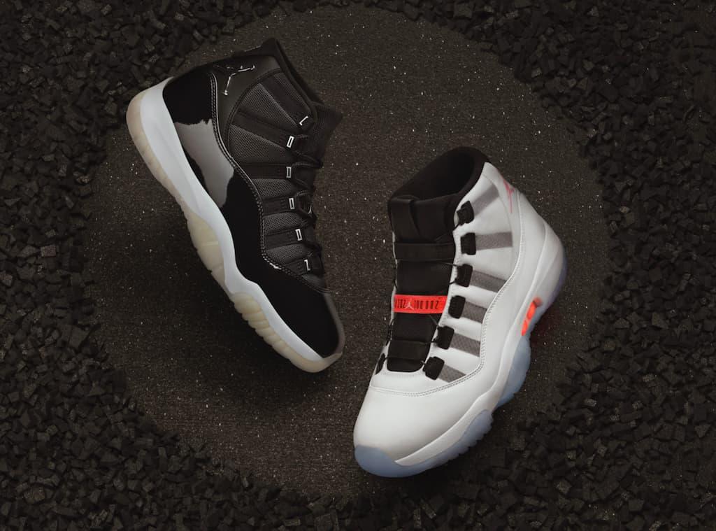 Air Jordan XI Adapt 2020 Sneaker in Weiss und Schwarz