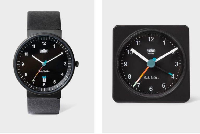 Braun x Paul Smith Armbanduhr und Reisewecker