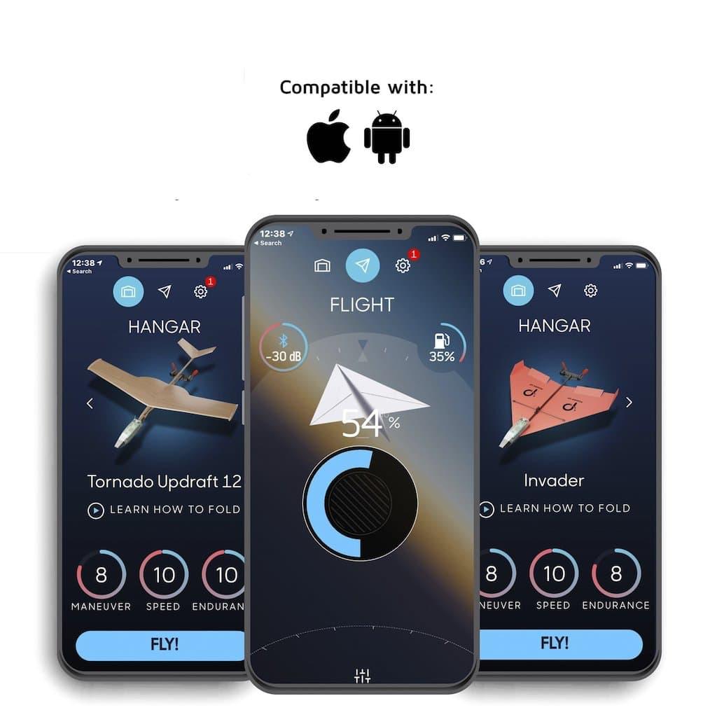 Abbildung der Smartphone App