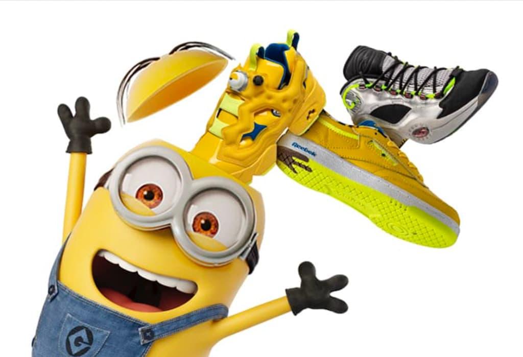 Sneaker der Reebok x Minions Kollektion