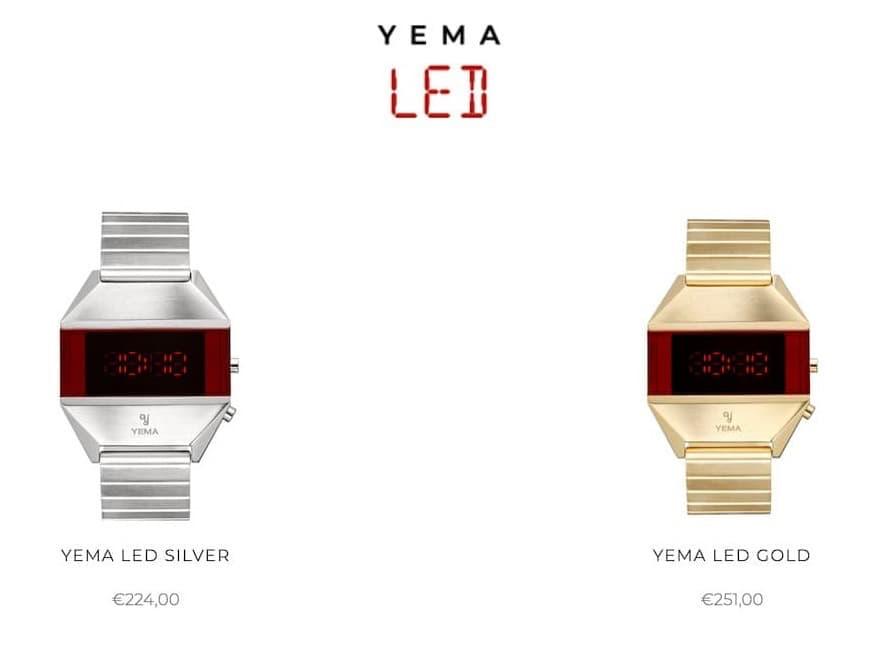 YEMA LED Uhr in Silber und Gold