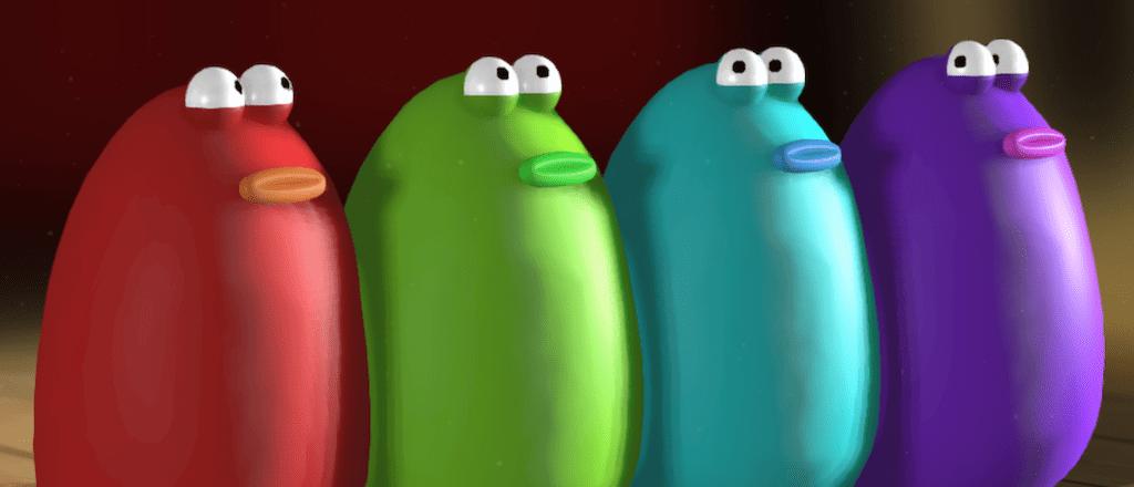 Die 4 bunten Blobs