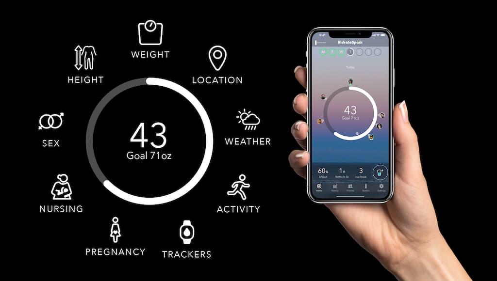 HidrateSpark STEEL Smartphone App