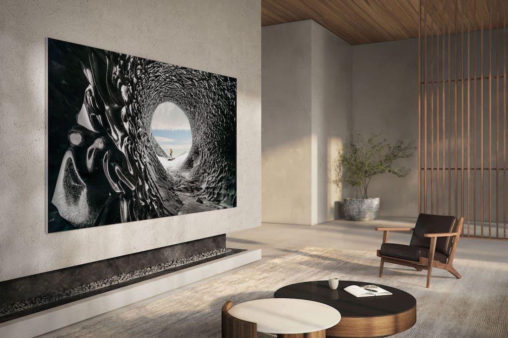 Samsung 110 Zoll Micro LED im Wohnzimmer