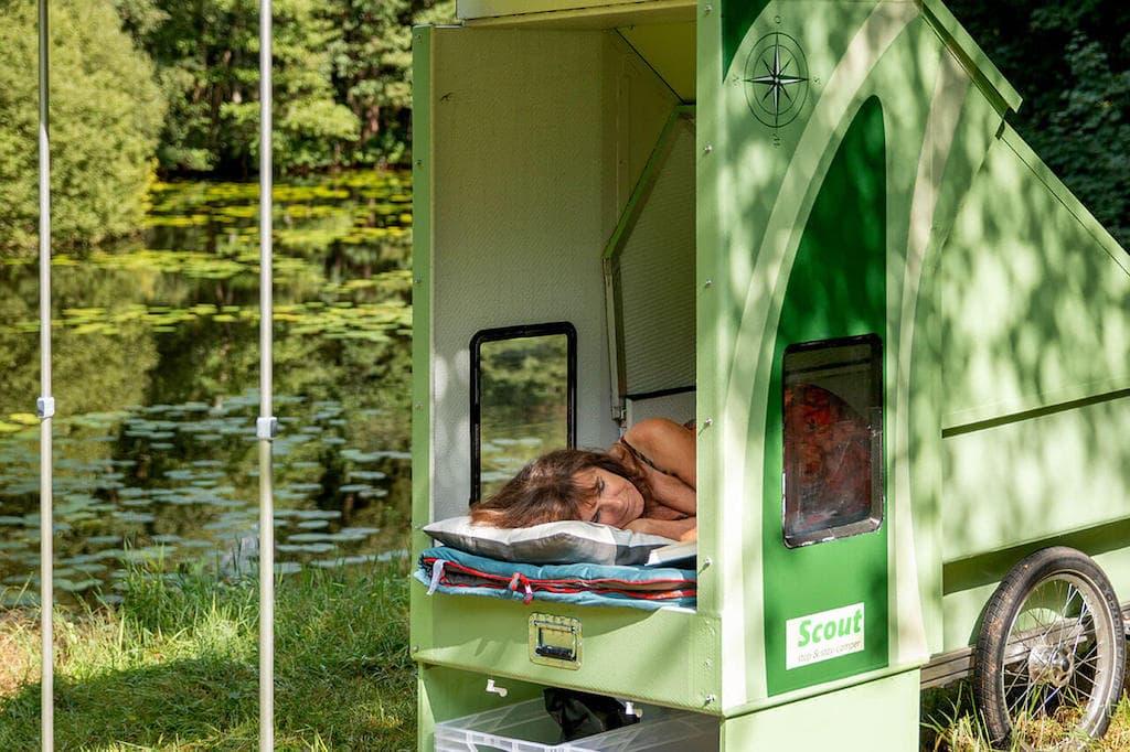 Schlafplatz im Scout-Camper