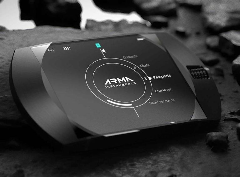 Display des ARMA G1 Secure Communicator