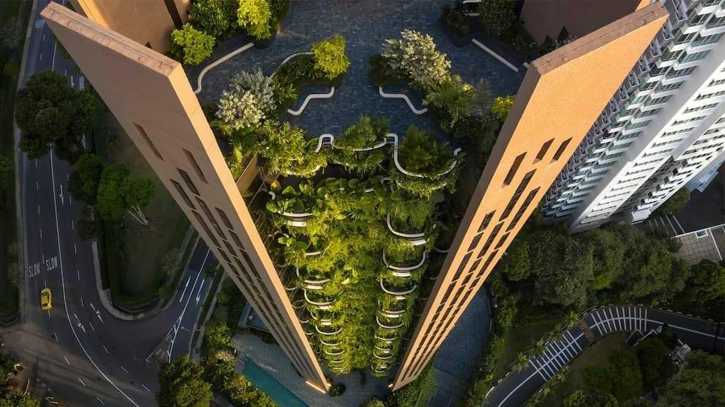 Heatherwick Eden Tower in Singapur