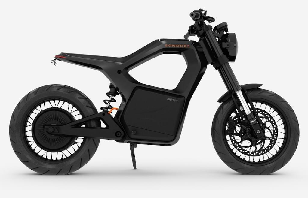 Metacycle E-Motorrad in der Farbe Supermassive
