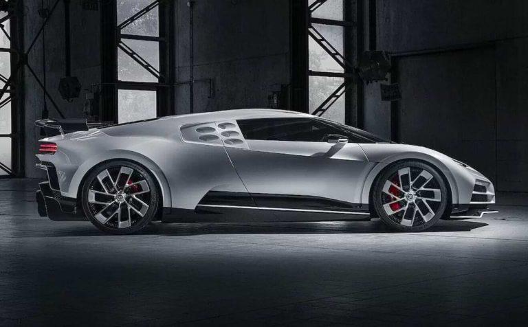Bugatti Centodieci - Seitenansicht