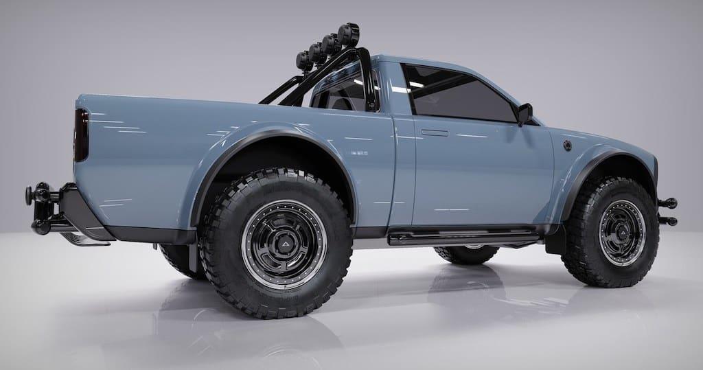 Seitenansicht: Striking Electric Wolf™ Utility Truck