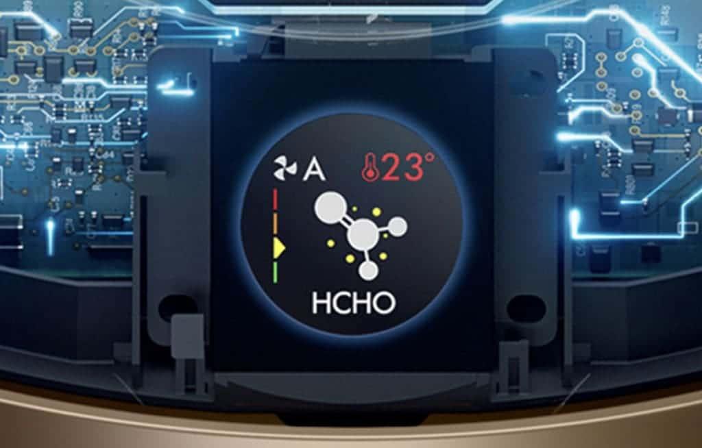 Der Dyson Purifier Cool Formaldehyde erkennt automatisch Schadstoffe