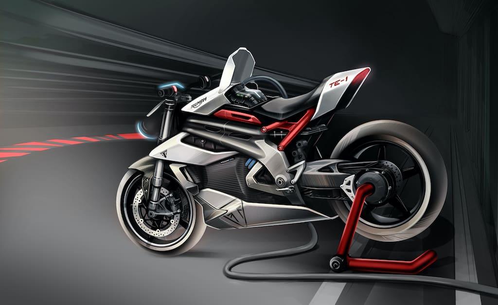 Triumph TE-1 Prototype Elektro-Motorrad für 2021