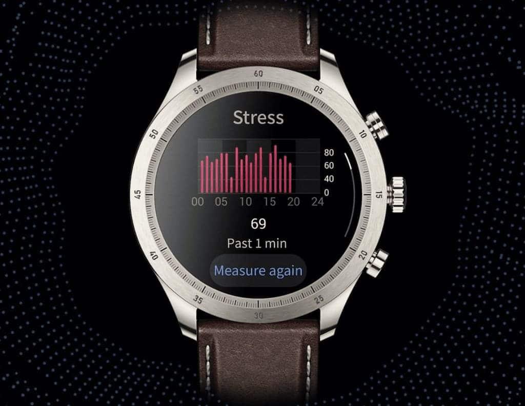 Stressanzeige an der Zepp Z Smartwatch