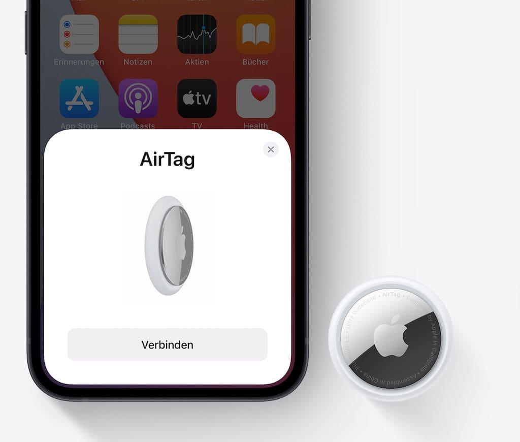 Apple AirTag - einfache Kopplung per iPhone