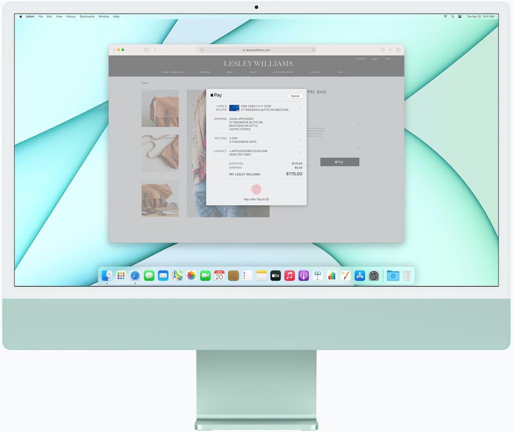 Apple M1 iMac in Grün