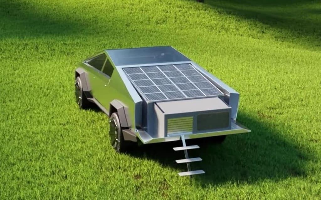 CyberLandr Pop-up-Camper CyberTruck