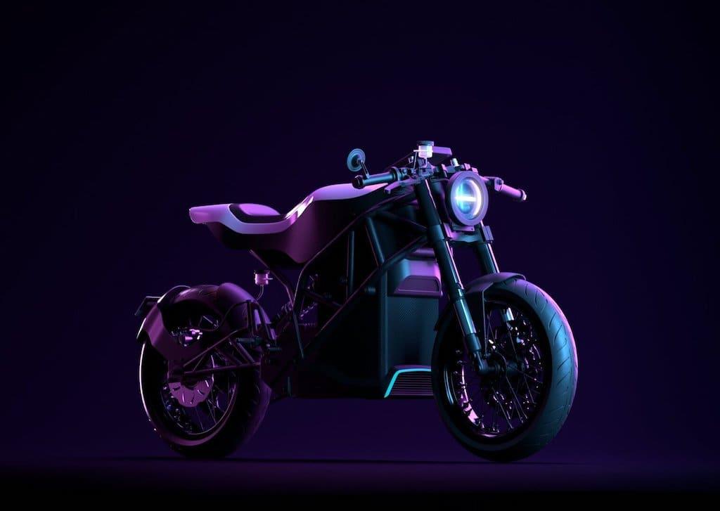 Elektromotorrad Project Zero - Seitenansicht