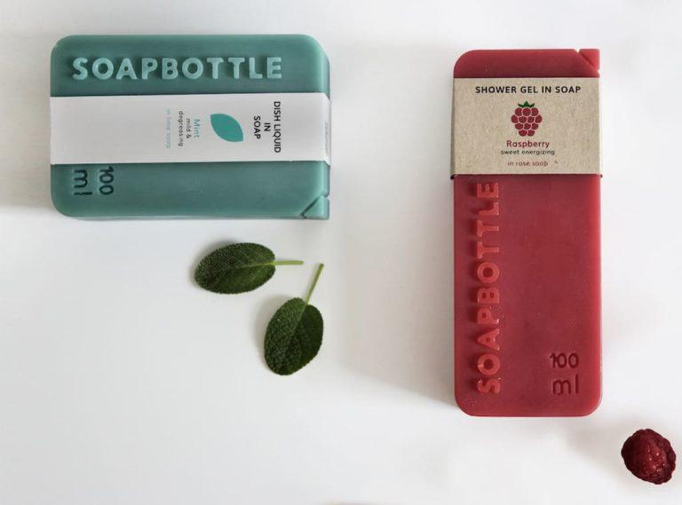 Soapbottle Verpackung aus Seife