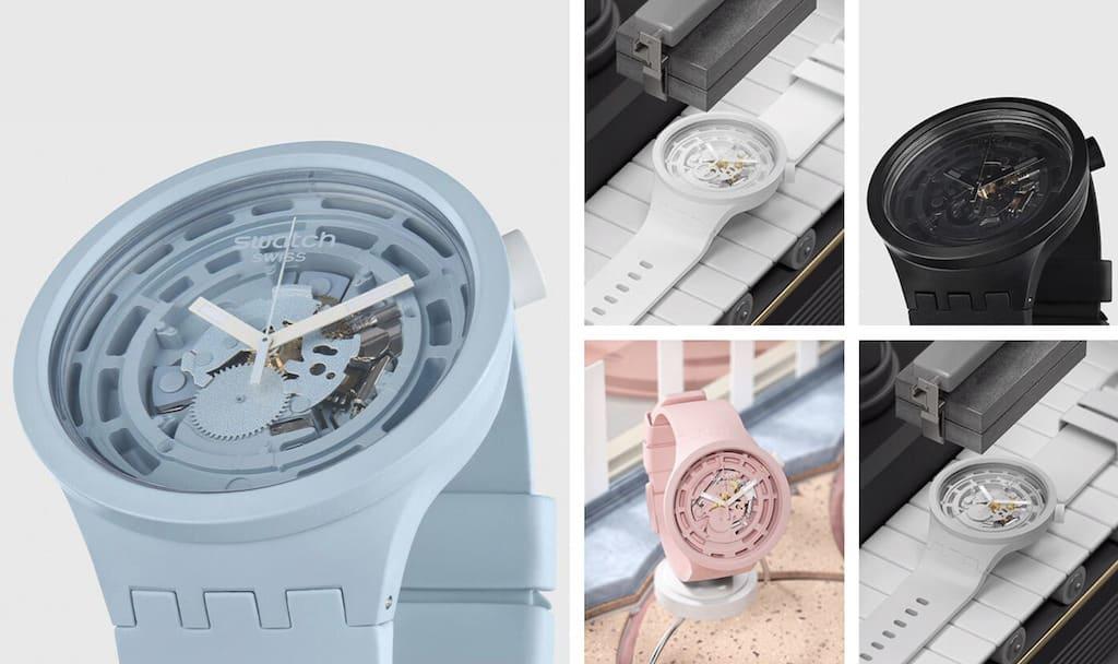 Farbauswahl der Swatch BIOCERAMIC Big Bold Uhren
