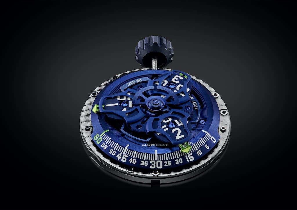 URWERK UR-100V Blue Movement