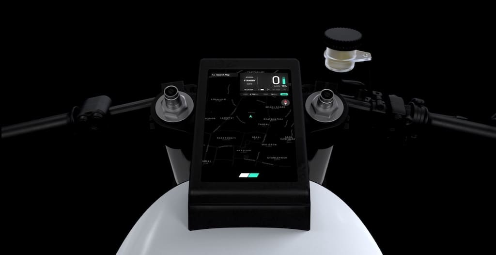 TFT-Display des Project Zero E-Motorrad