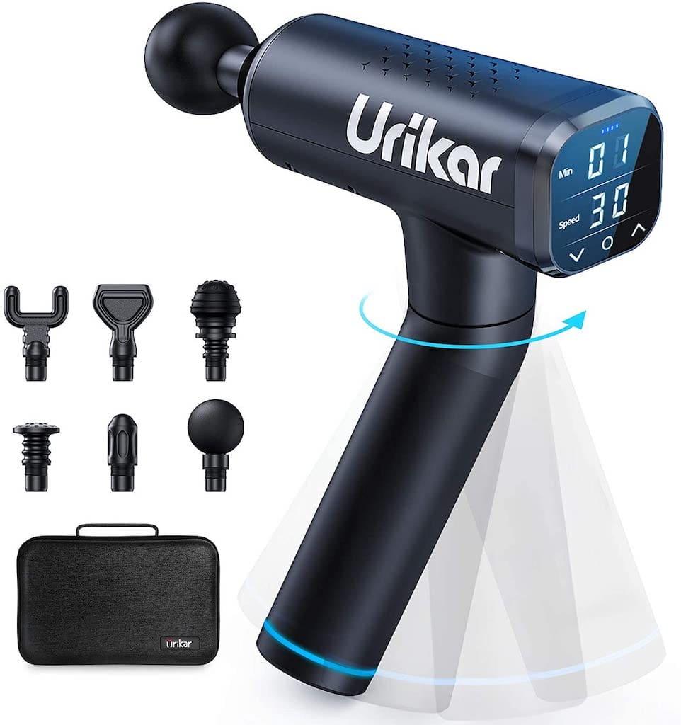 Urikar Pro 3 Massagepistole mit Aufsätzen