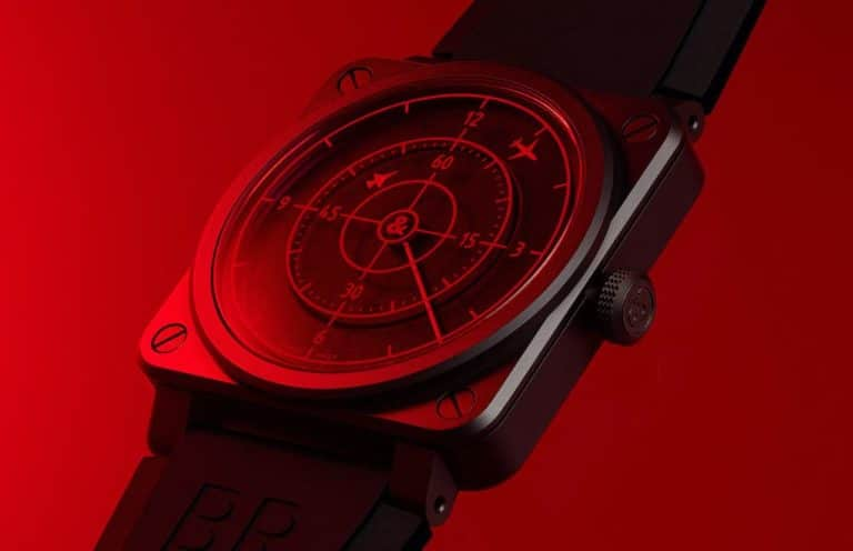 BR 03-92 Red Radar Ceramic Uhr