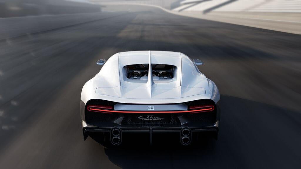 Heckansicht des Bugatti Chiron Super Sport