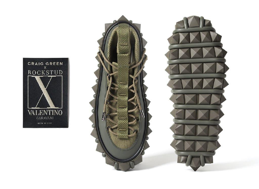 Craig Green x Rockstud X Valentino Garavani Sneaker in Green