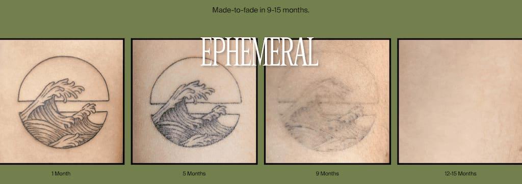 Ephemeral Tattoo in 9- 15 Monaten