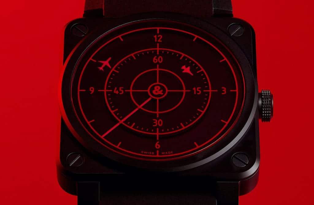 Zifferblatt der Bell & Ross 03-92 Red Radar Keramik