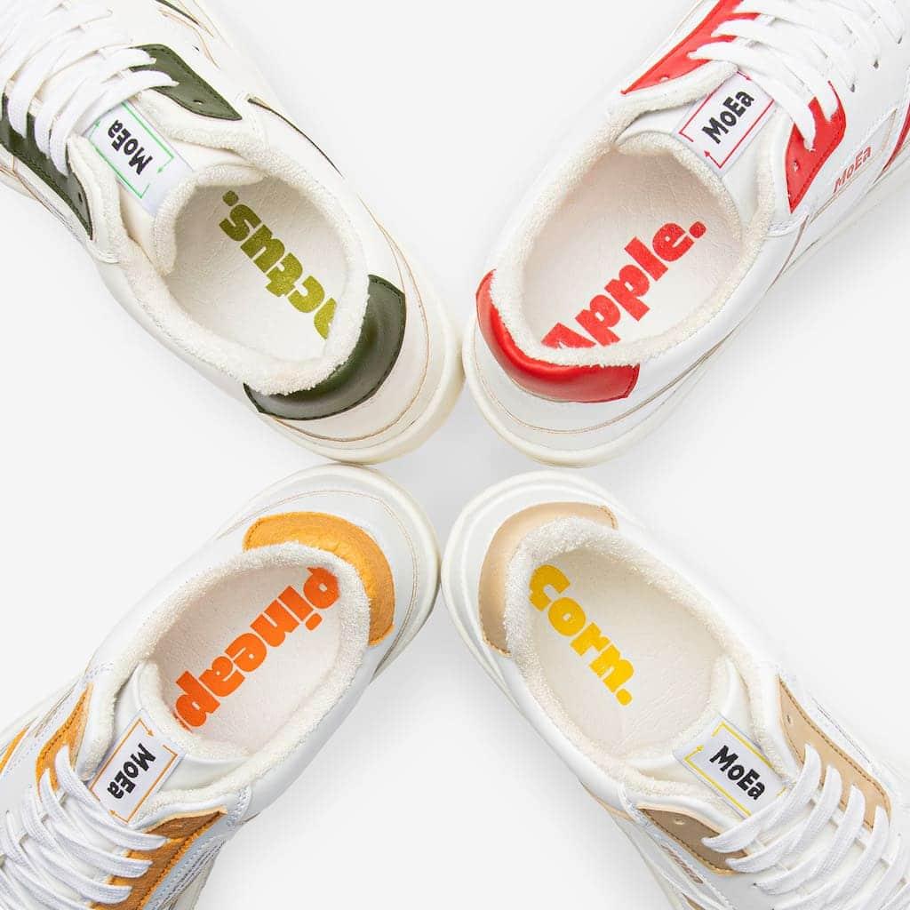 Farb- und Fruchtauswahl MoEa Bio-Sneaker