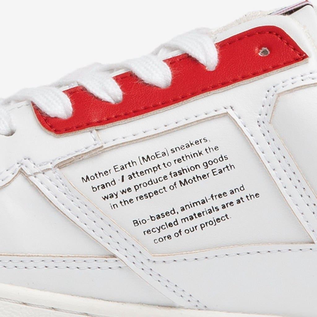 Beschriftung der MoEa Bio-Sneaker