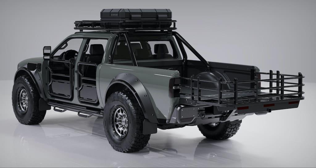SUPERWOLF Off-Road E-Truck mit Ladefläche
