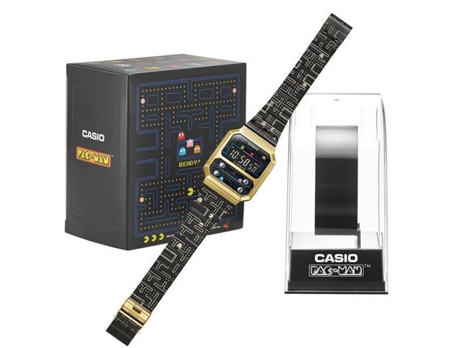 CASIO × PAC-MAN mit Verpackung