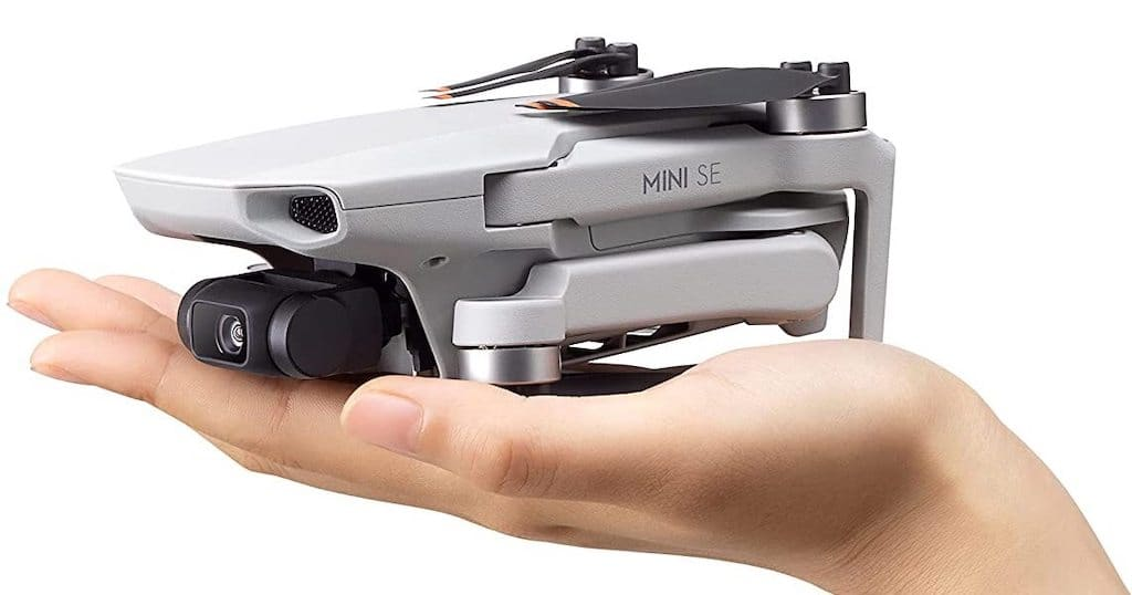 Größe der DJI Mini SE Kamera Drohne