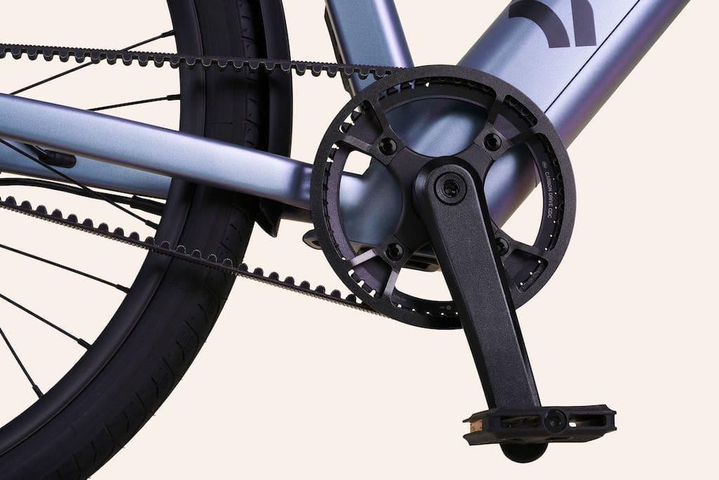 Zuverlässiger Carbon-Riemenantrieb am Dance Bike