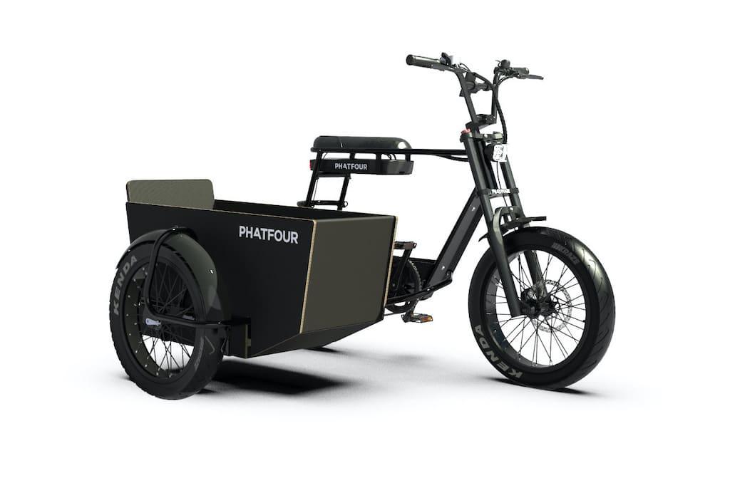 Phatfour E-Bike mit Sidecar