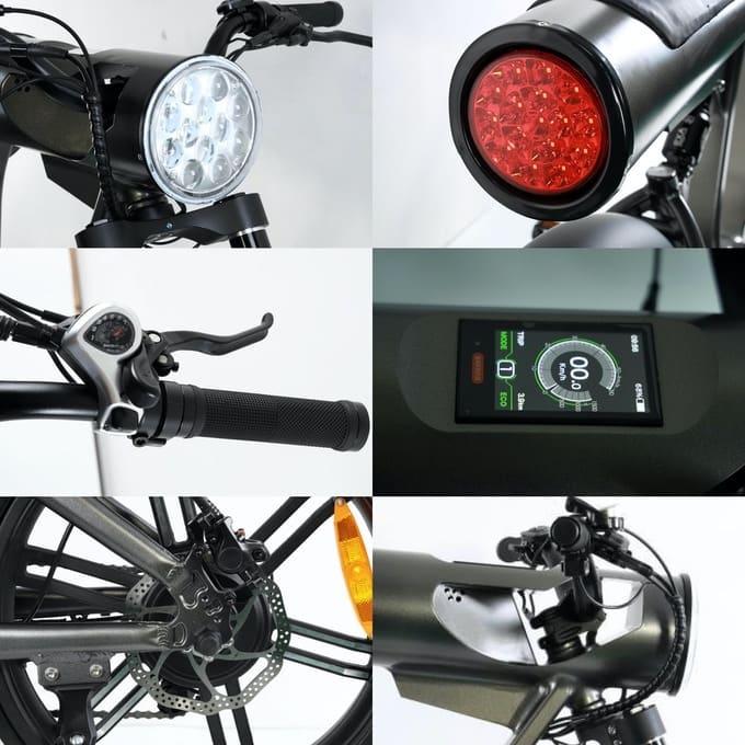 Details des Vinci Electric Bike